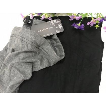 Maternity Long Skirt - Modal Cotton Black or Dark Blue