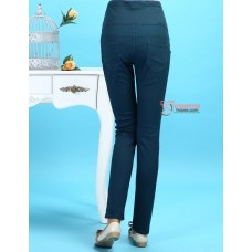 Maternity Pants - Slim Straight Dark Green
