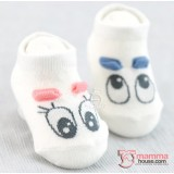 Baby Socks - Korean Eyes (Blue + Pink) 2pairs Set