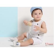 Baby Socks - Korean Eyes (Blue + Pink) 2pairs Set