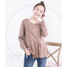Nursing Tops - Long Blouse Khaki