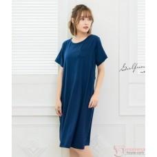Nursing Dress - Simple Dark Blue