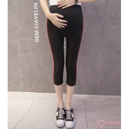 Maternity Pants - Side Line Black