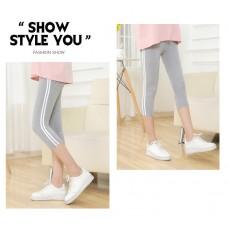 Maternity Legging - Side 2 Line Light Grey