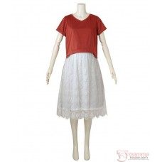 Nursing Dress - JP Charm Lace Orange White