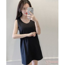 Nursing Tops - JP Singlet Long - Black