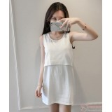 Nursing Tops - JP Singlet Long - White