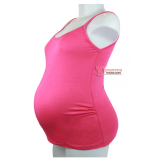 Maternity Singlet - Sugar Rose Pink