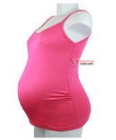 Maternity Singlet - Sugar Rose Pink