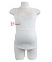 Nursing Singlet - Flexi White