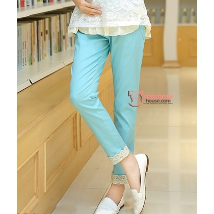 Long Pants - Working Korean Lace Sky Blue