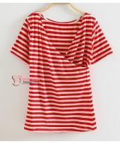 Nursing Tops - JP Clear Stripe Red