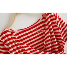 Nursing Tops - JP Clear Stripe Red