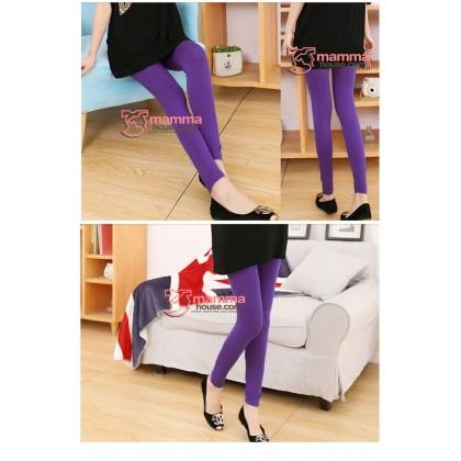 Maternity Legging - Long Support Purple