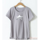 Nursing Tops - Star Grey