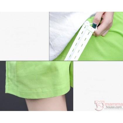 Maternity Shorts - Beige Shorts Lace Opening