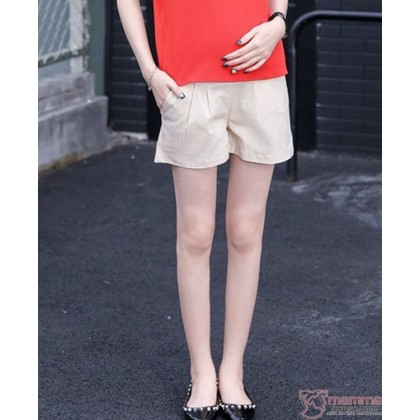 Maternity Shorts - Beige Shorts Cool