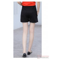 Maternity Shorts - Black Shorts Lace Opening