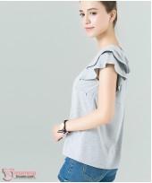 Nursing Tops - Lotus Fold Grey