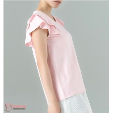 Nursing Tops - Lotus Fold Pink