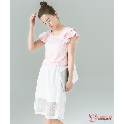 Nursing Tops - Lotus Fold Pink