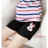 Maternity Shorts - Cotton Minnie Black