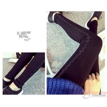 Long Legging - Long Side Gimp Black