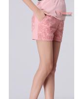 Maternity Shorts - Korean Lace Pink Shine