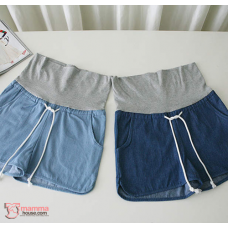 Maternity Shorts - String Jeans Dark Blue