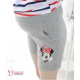 Maternity Shorts - Cotton Minnie Grey