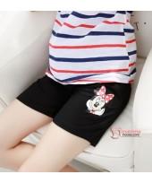 Maternity Shorts - Cotton Minnie Black