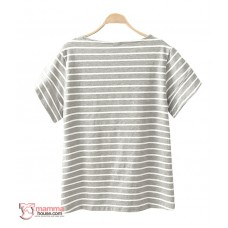 Nursing Tops - Stripe White Black