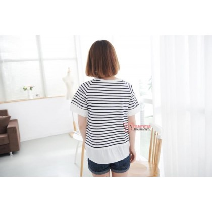 Nursing Tops - Korean Stripe  (3 colors)
