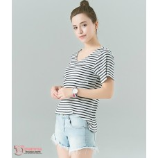 Nursing Tops - V Cozy Stripe