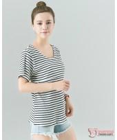 Nursing Tops - V Cozy Stripe