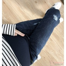 Maternity Jeans - Red Letter Dark Blue