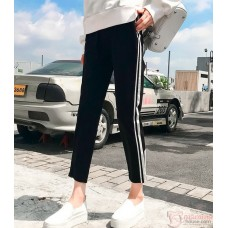 Maternity Pants - ankle side White Cotton Pants