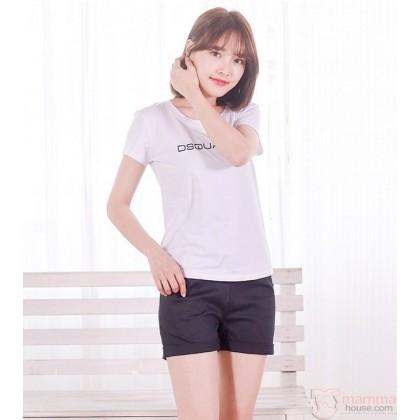 Maternity Shorts - Simple Fold Black