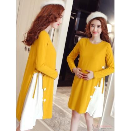 Maternity Blouse - Long Stylish Yellow