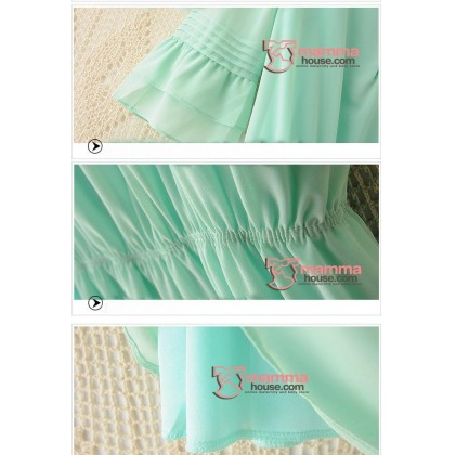 Maternity Tops - Korean Chiffon Green