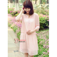 Maternity Tops - Korean Chiffon Pink