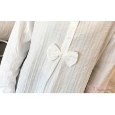 Maternity Blouse - Ribbon White