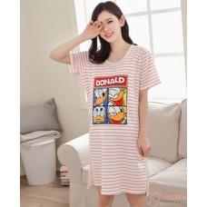 Mamma Pajamas - Donald Stripe Red