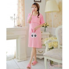 Mamma Pajamas - Dress Rabbit Grid Ear