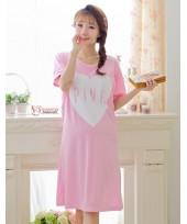 Mamma Pajamas - Dress Love Pink Short Pink