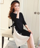 Maternity Blouse - Long Stylish Black
