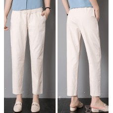 Maternity Pants - Working Linen Biege