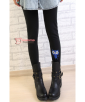 Long Legging - Cat Tail Black