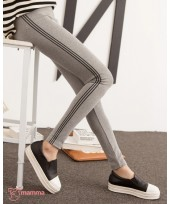 Maternity Legging - Line Long Grey Light