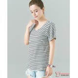 Nursing Tops - V Comfy Stripe